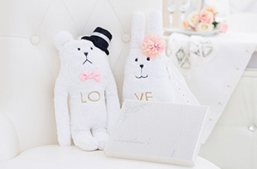 Wedding CRAFT ウェディングドール+キラキラHAPPYBOX電報プレシャスホワイト