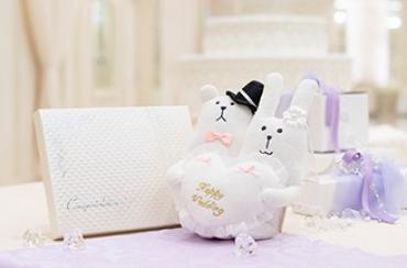 Wedding CRAFT リングピロー+キラキラHAPPYBOX電報プレシャスホワイト