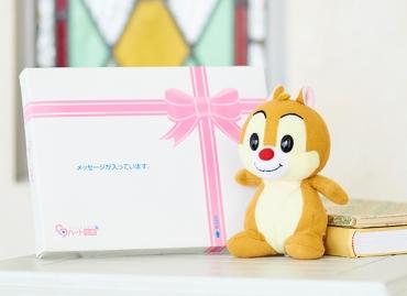 【ディズニー】レトロンズ デール ぬいぐるみ+ドキドキHAPPYBOX電報