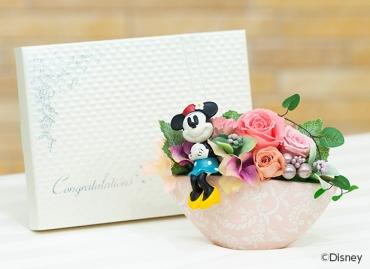 プリティローズ(ミニーマウス)+キラキラHAPPYBOX電報プレシャスホワイト