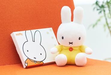 ミッフィー ぬいぐるみ(イエロー)+ミッフィー HAPPYBOX電報