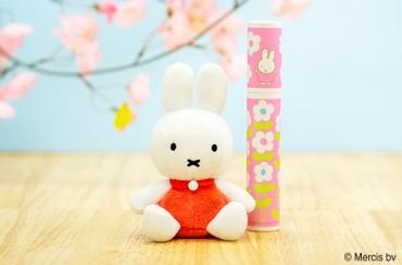 ミッフィー てのひらお手玉+ミッフィー 丸筒電報ピンク
