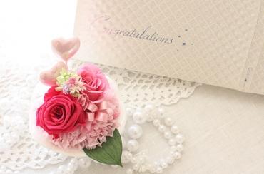〈*Rosary*〉シトローネ+キラキラHAPPYBOX電報プレシャスホワイト