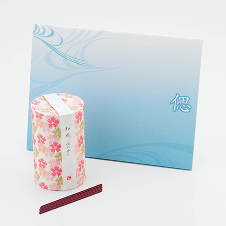 お悔やみ電報 そよかぜ お線香「和遊」桜の香り