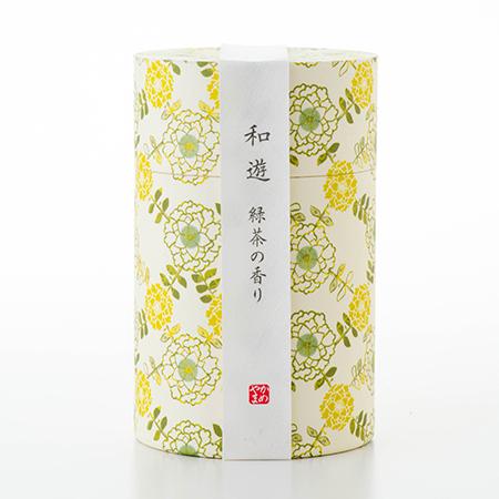 お悔やみ電報 そよかぜ お線香「和遊」緑茶の香り