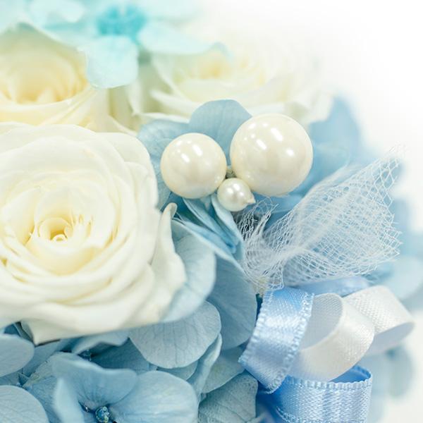 ブルーとホワイトの美しい色合い