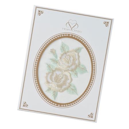 特別セットの刺繍電報 ローズゴールド