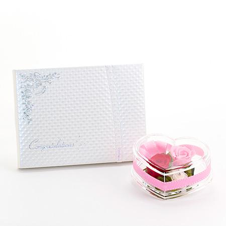 クリアハート ロマンティックローズ+キラキラHAPPYBOX(PW)電報