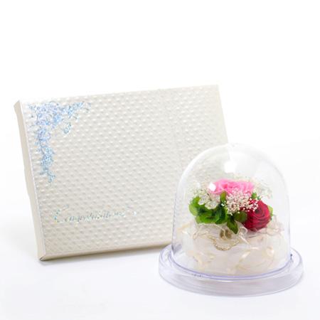 ドームスタイル フレッシュピンク+キラキラHAPPYBOX電報