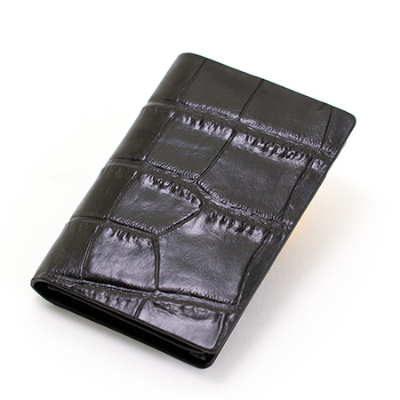 クロス〈ココバイカラー〉名刺入れ ブラック+ロイヤルフラワーブルー電報