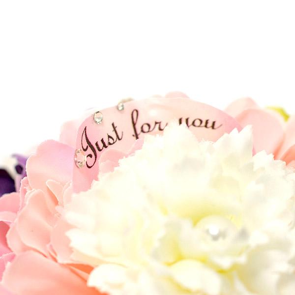 花びらには「Just for you」のメッセージ入りです