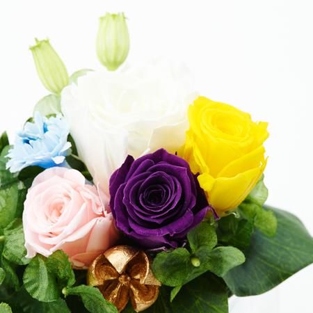 プリザーブド供花メモリアルポット シルバー