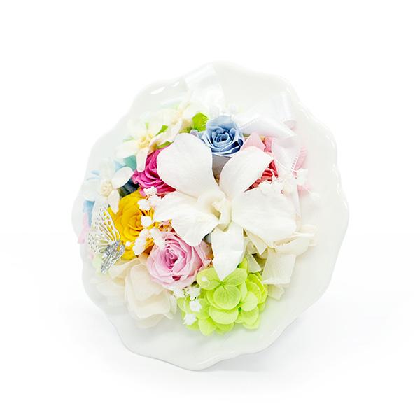 デンファレ、ローズ、ブルースター、かすみ草、あじさいとお花がいっぱい
