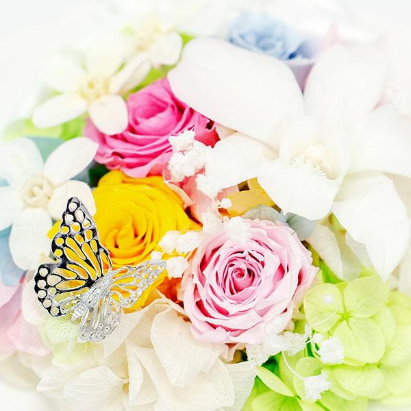 お花畑に蝶が飛んできたかのよう。