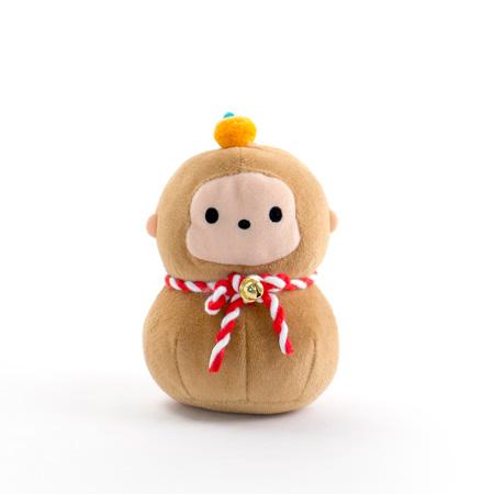 じゃぱねすく もち〜っとぬいぐるみ(サル)+和風HAPPYBOX電報 花手鞠 茜