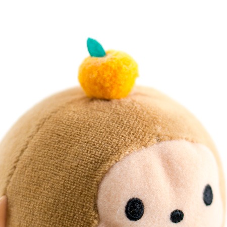 頭の上にちょこんと乗った橙(ダイダイ)