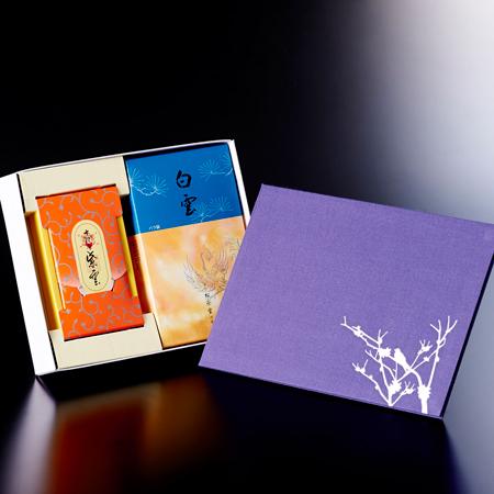お悔やみ電報 ほととぎす お焼香とお線香「白雲・十種香 紫雲」セット