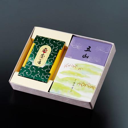 お焼香とお線香「五山・蘭奢香」セット