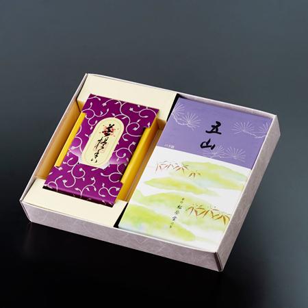 お焼香とお線香「五山・菩提香」セット
