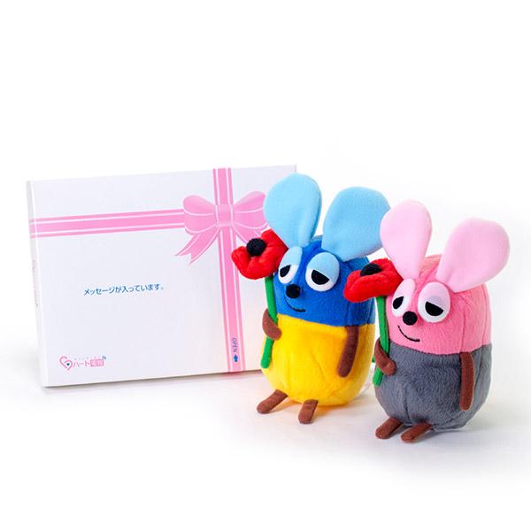 いろいろフレデリックぬいぐるみ(ブルー&ピンク)+ドキドキHAPPYBOX電報