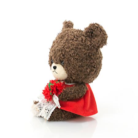 あかいお花と同じ赤いワンピースです