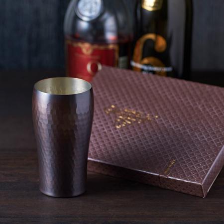 〈燕三〉純銅タンブラー+キラキラHAPPYBOXショコラ電報