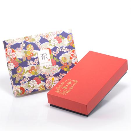 電報も落ち着きのある和風HAPPYBOX電報 花手毬 藍がセットです。