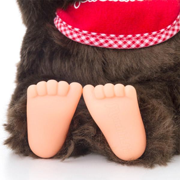実は、足の裏にはモンチッチのロゴが入っています。