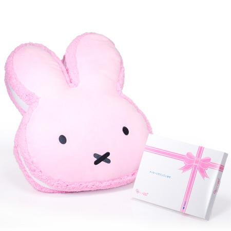 ミッフィー マカロンクッション ピンク+ドキドキHAPPYBOX電報