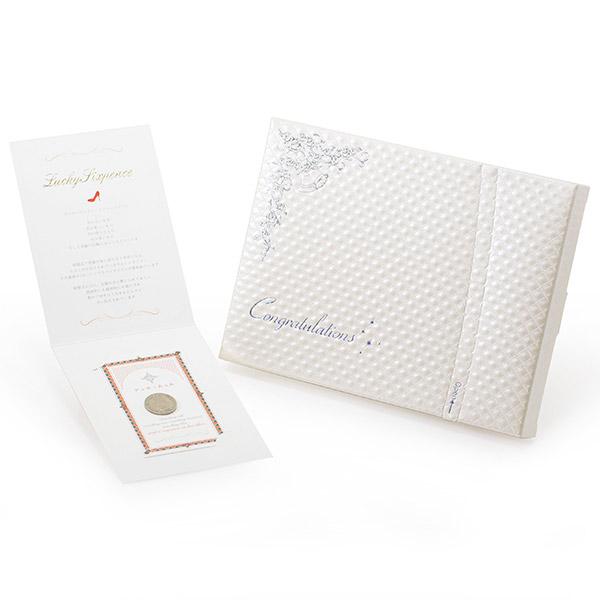 〈PORTADA〉シックスペンスコイン+キラキラHAPPYBOX電報プレシャスホワイト