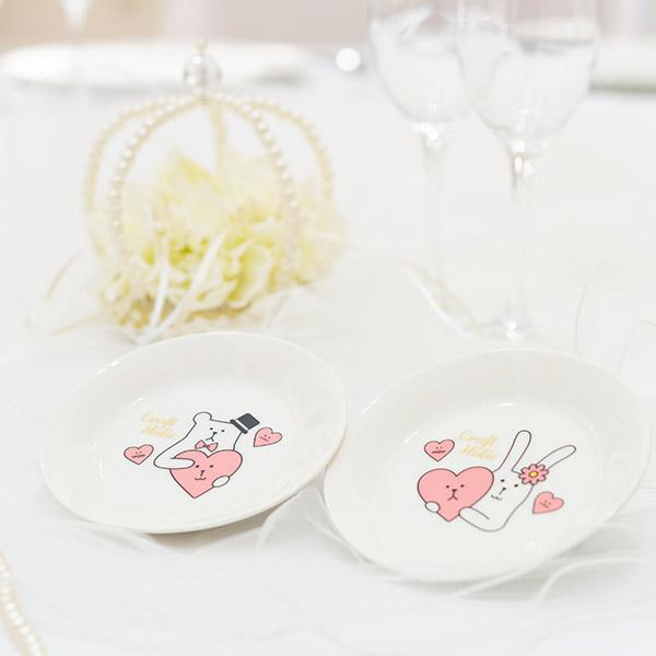 Wedding CRAFT ペア小皿