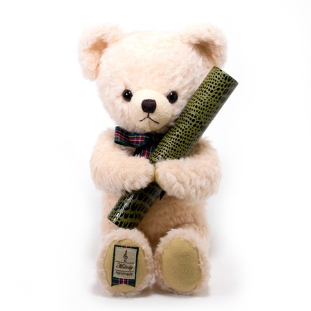 【日本製】テディベア くまのメロディ ピンク(M)+丸筒電報 スタンダード