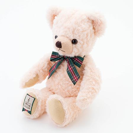 【日本製】テディベア くまのメロディ ピンク(M)