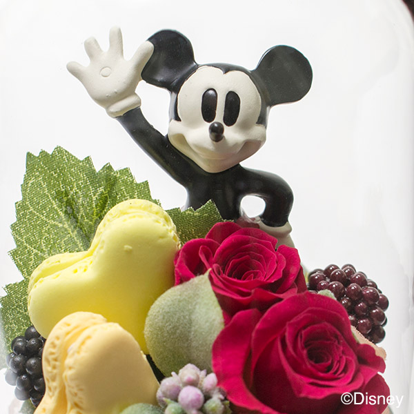 ミッキーマウスが祝福してくれているよう。