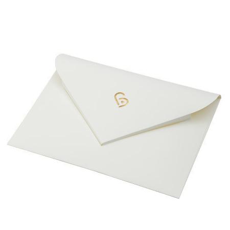 ボックスの中の封筒です。