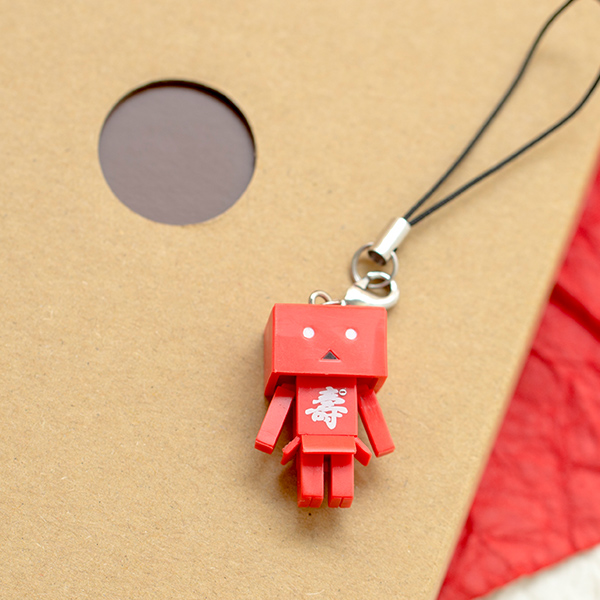 ダンボー壽ver.ストラップ(紅)+ダンボーHAPPYBOX電報(たいへんよくできましたver.)
