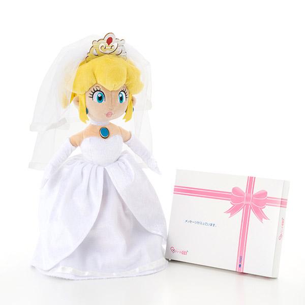 ピーチ姫 ウェディングぬいぐるみ+ドキドキHAPPYBOX電報
