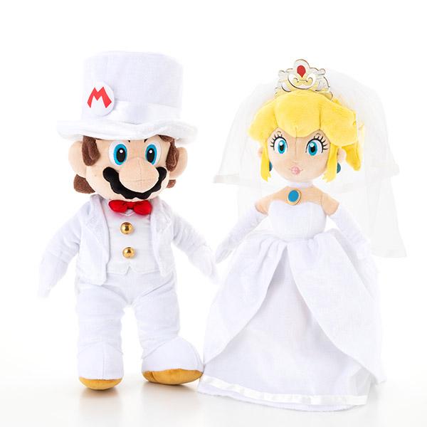 マリオ&ピーチ姫 ウェディングぬいぐるみ