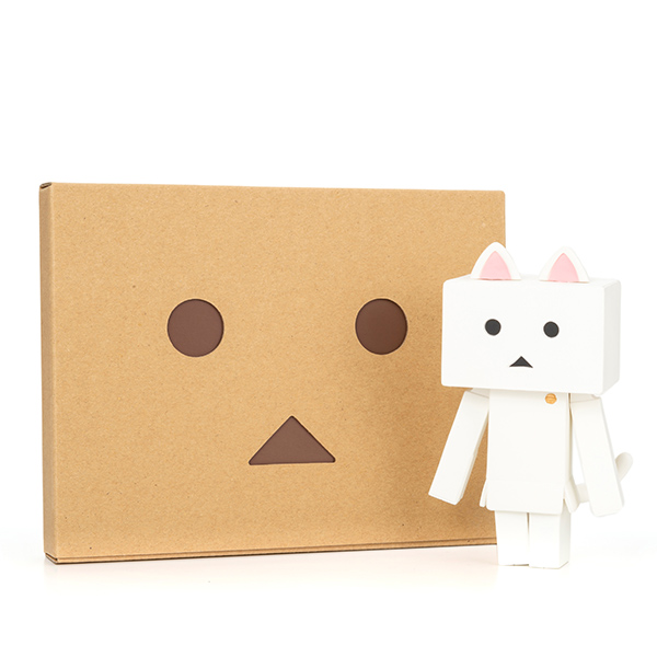 ソフビ ニャンボー(シロ)+ダンボーHAPPYBOX電報(たいへんよくできましたver.)