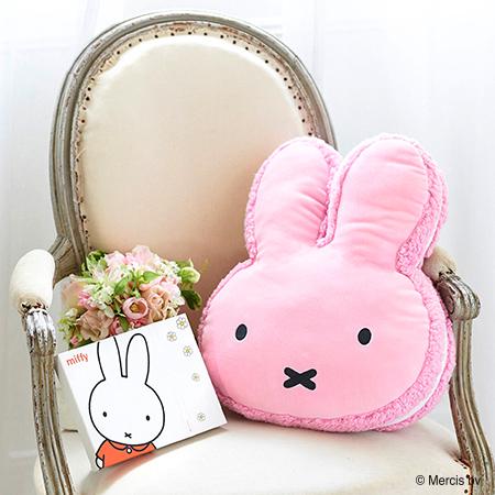ミッフィー マカロンクッション ピンク+ミッフィーHAPPYBOX電報