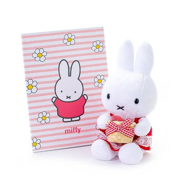 ミッフィー電報 ミッフィーのお花とセットでお届けいたします。