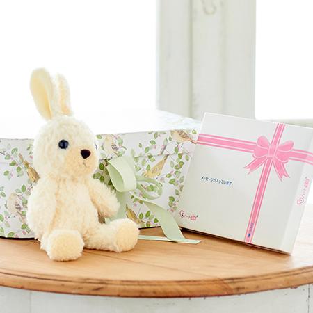 【日本製】ウサギのフカフカ(S)クリーム