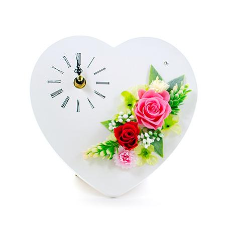 ハート型フラット時計