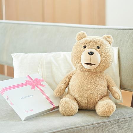 テッド2 ぬいぐるみ(お座り)+ドキドキHAPPYBOX電報