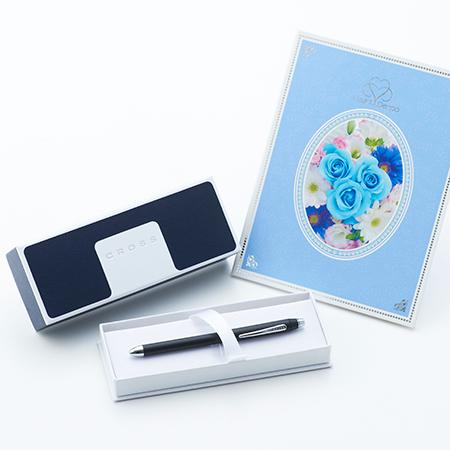 クロス〈テックスリープラス〉複合ペン ブラック+ロイヤルフラワーブルー電報