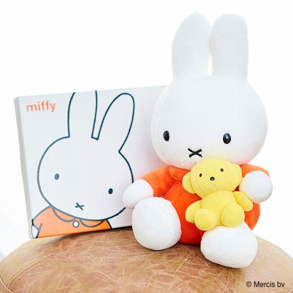 くまちゃん抱きミッフィー ぬいぐるみ+ミッフィー HAPPYBOX電報