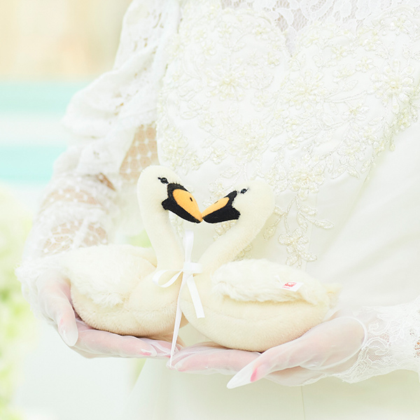 愛のシンボルとして結婚式のお祝い。