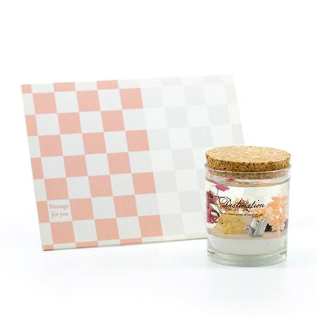 フレグランスジェルLEDライト(日本)+キラキラHAPPYBOX電報プレシャスホワイト