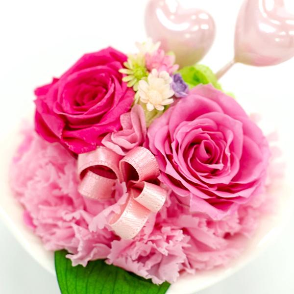 2つのピンクのハートでかわいらしさUP!