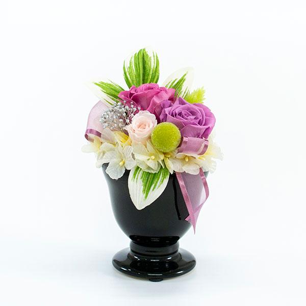 プリザーブド供花メモリアルポット詩杯型(S)ライラック